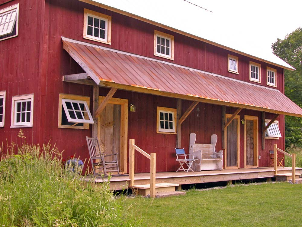 Barn Exterior and Porch