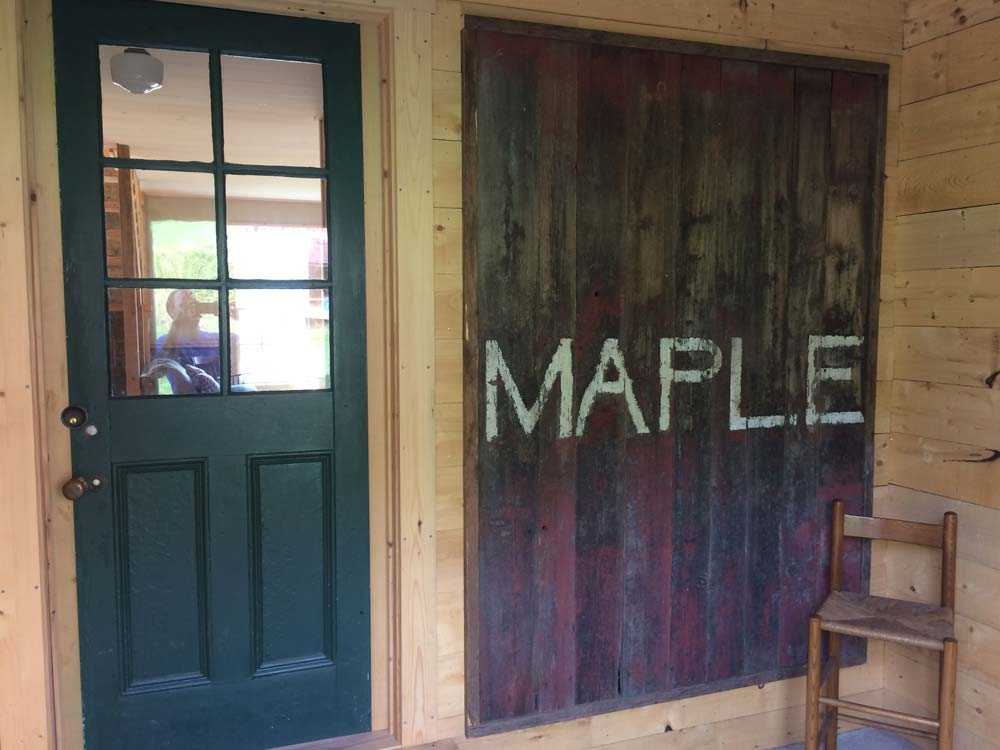 Maple sign on entrance